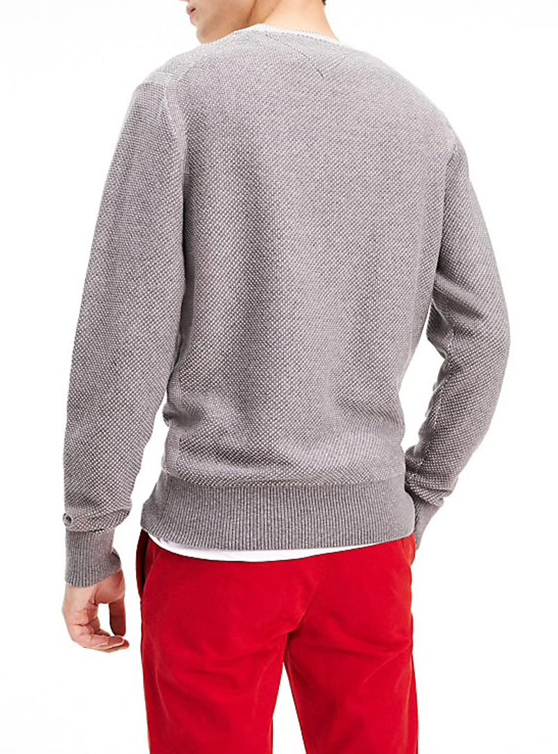 MAGLIA STRUCTURED TOMMY HILFIGER | Maglia | MW0MW11666TWOCOLORP9WSILVERFOGHEATHER
