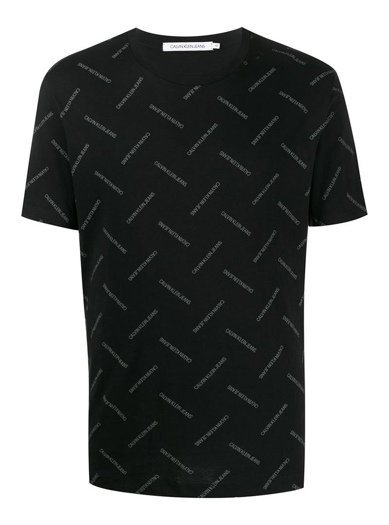 T-SHIRT CON LOGO ALL-OVER CALVIN KLEIN JEANS | T-shirt | J30J314096BAECKBLACK