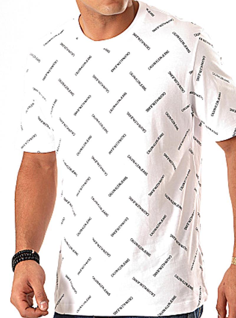 T-SHIRT CON LOGO ALL-OVER CALVIN KLEIN JEANS | T-shirt | J30J314096YAFBRIGHTWHITECKBLACK