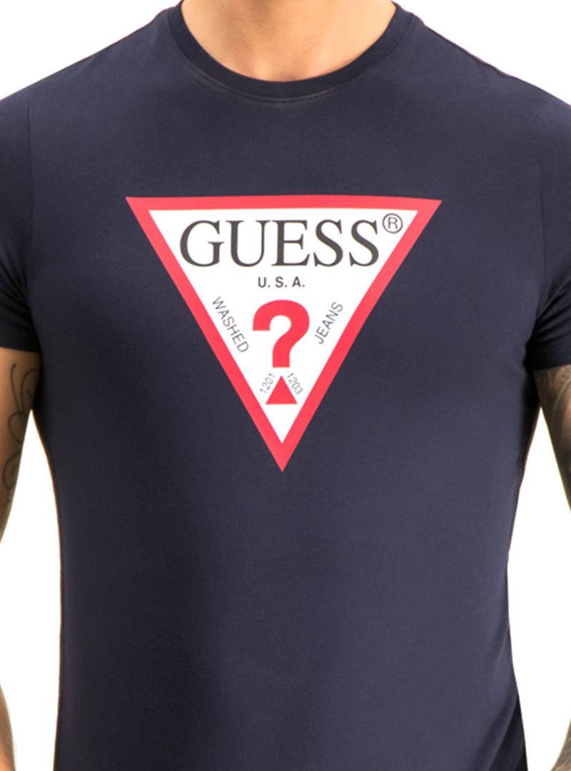 T-SHIRT CON LOGO TRIANGOLO GUESS   T-shirt   M01I71I3Z00G720BLEUNAVY