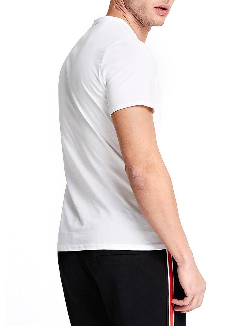 T-SHIRT CON LOGO TRIANGOLO GUESS | T-shirt | M01I71I3Z00TWHTBLANCPUR