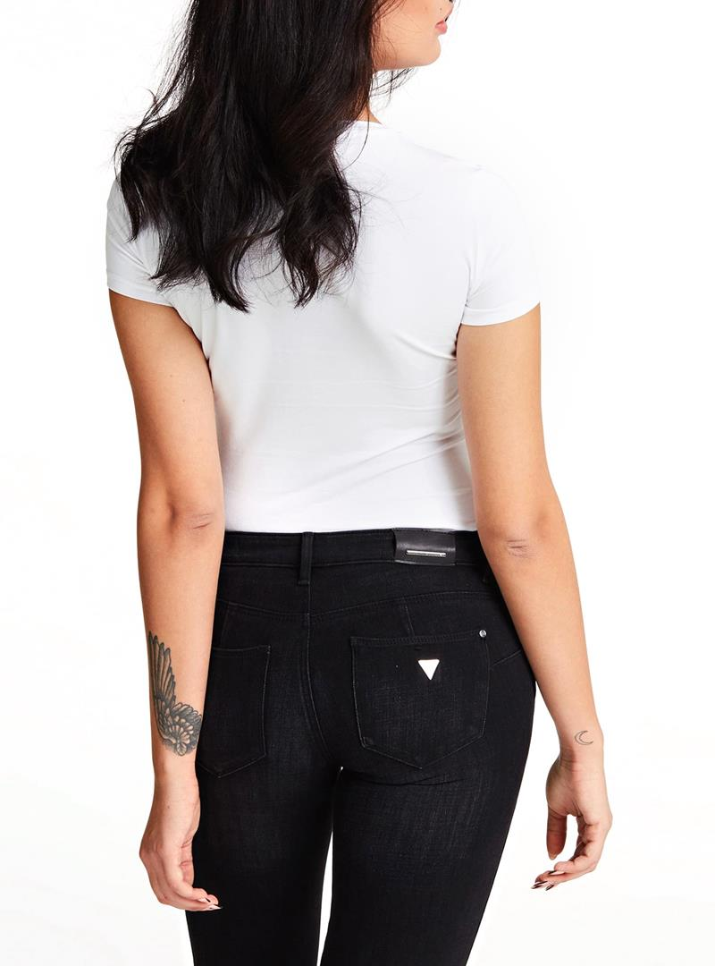 T-SHIRT TRIANGOLO LOGO GUESS   T-shirt   W01I90J1300TWHTBLANCPUR