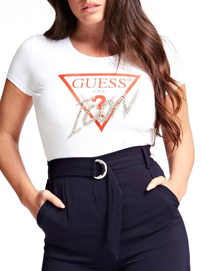 T-SHIRT CON LOGO ICON GUESS | T-shirt | W0GI08J1300TWHTTRUEWHITE