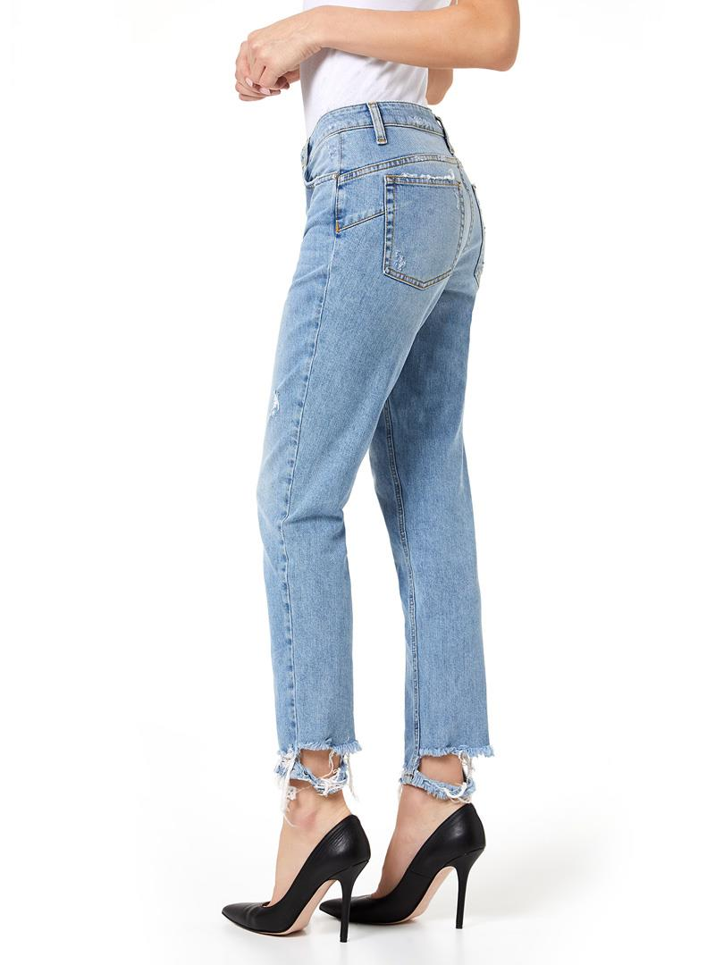 JEANS SLIM A VITA ALTA LIU JO BLUE DENIM   Jeans   UA0034D444178019DENBLUEBELTWASH