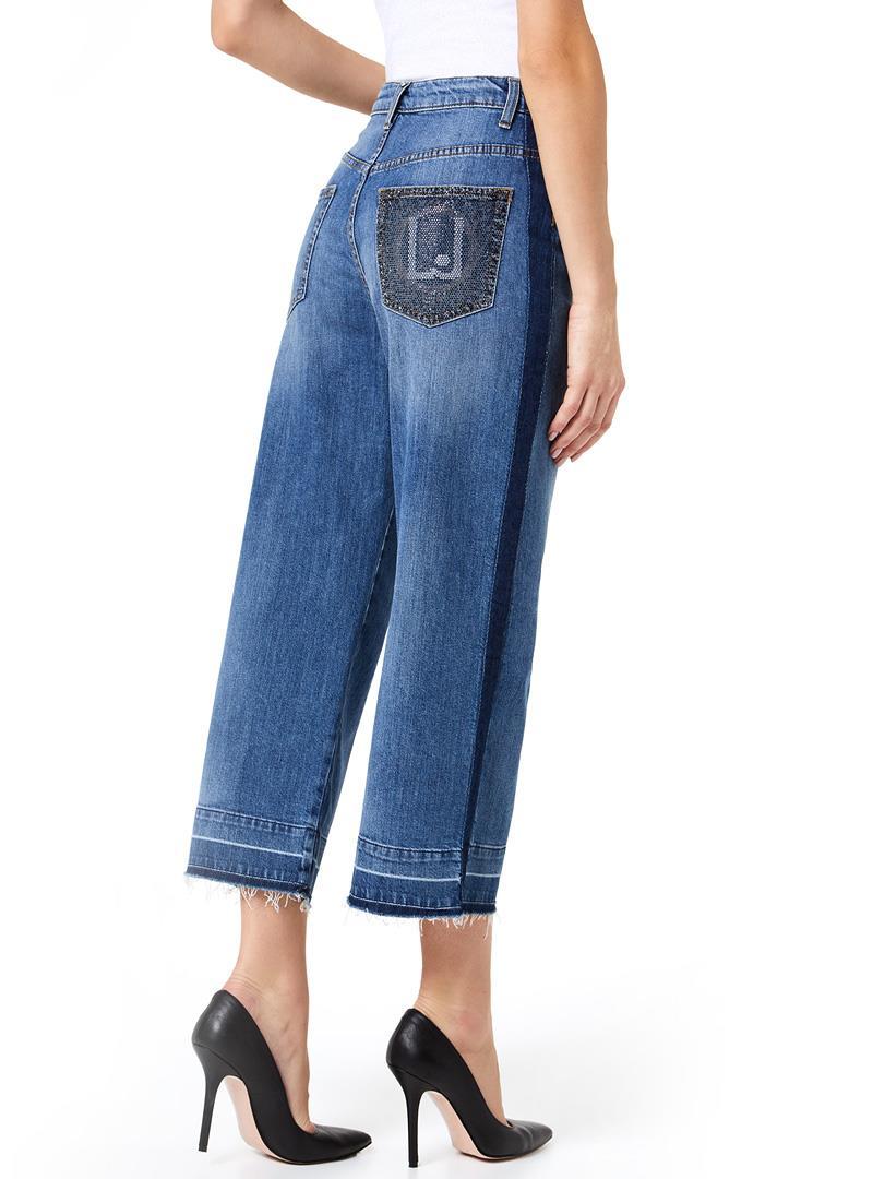 JEANS A PALAZZO LIU JO BLUE DENIM   Jeans   UA0050D310578015DENBLUEPORTRAIT