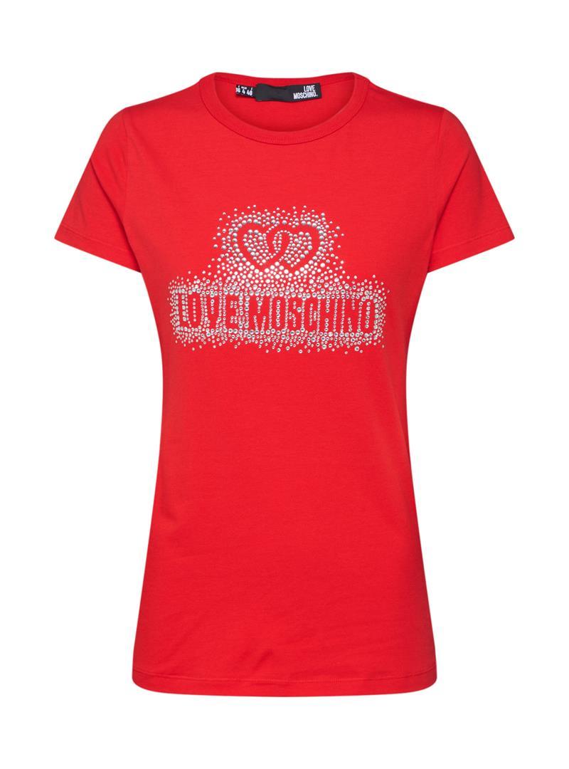 T-SHIRT LOGO CORE LOVE MOSCHINO | T-shirt | W4F7360E1698O95RED