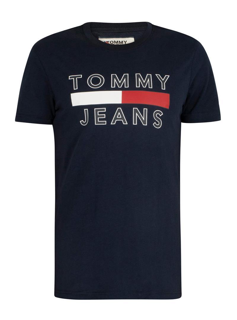 T-SHIRT IN COTONE BIOLOGICO CON LOGO TOMMY JEANS | T-shirt | DM0DM07430CBKBLACKIRIS