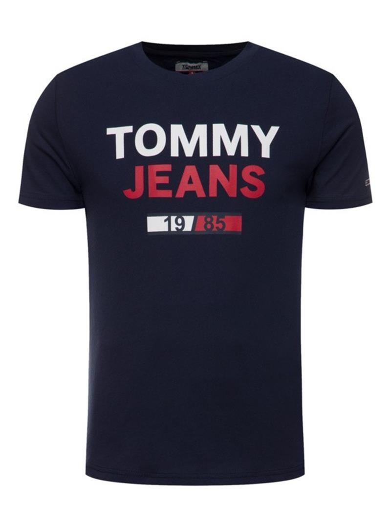 T-SHIRT T JM 1985 TOMMY JEANS | T-shirt | DM0DM07537CBKBLACKIRIS