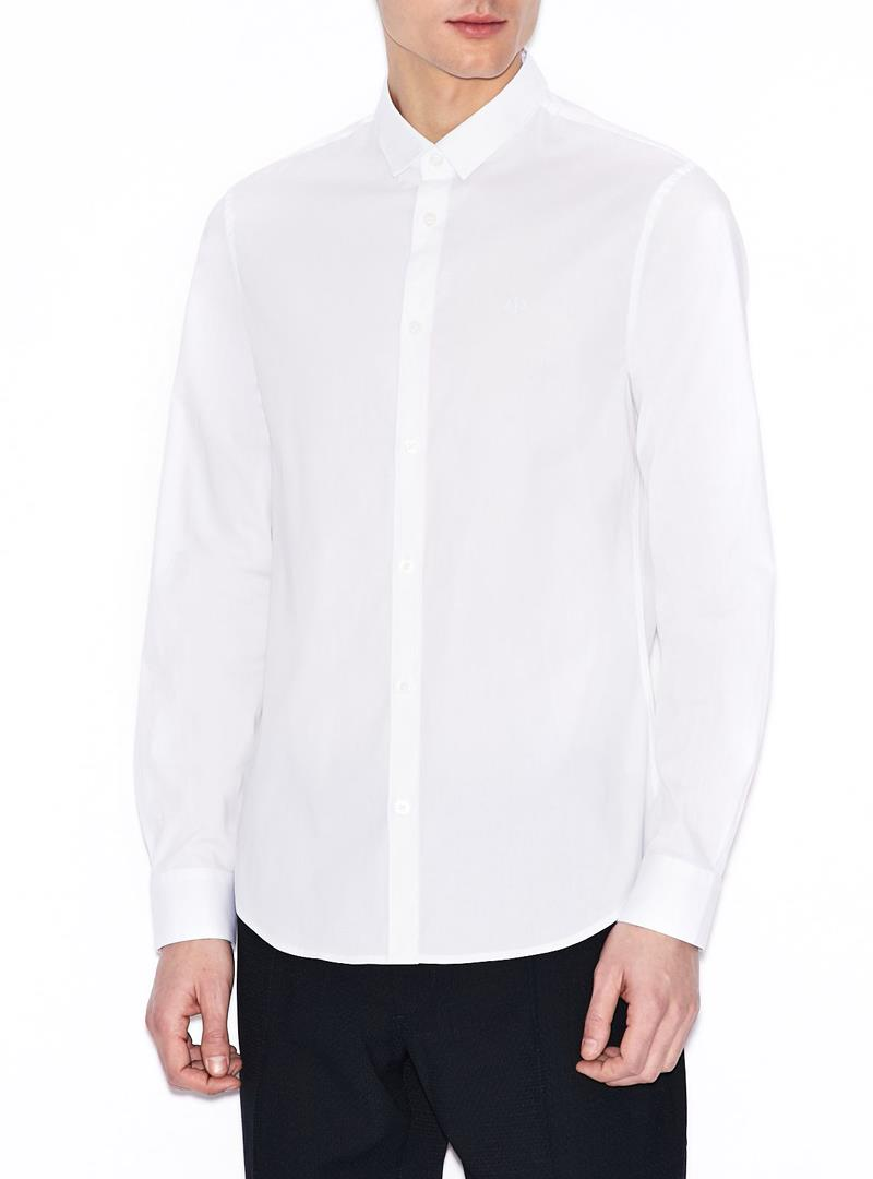 CAMICIA IN POPELINE STRETCH AX ARMANI EXCHANGE | Camicia | 8NZC41ZN28Z1100WHITE