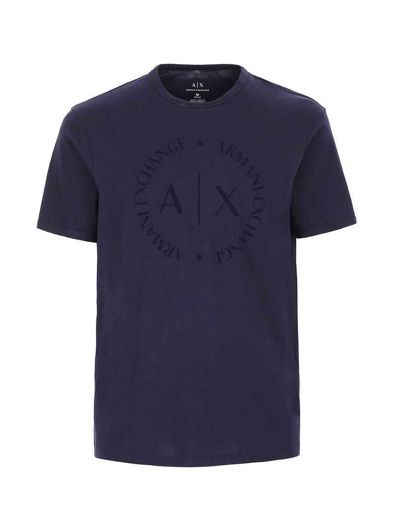 T-SHIRT CON LOGO TONO SU TONO AX ARMANI EXCHANGE | T-shirt | 8NZTCDZ8H4Z1510NAVY