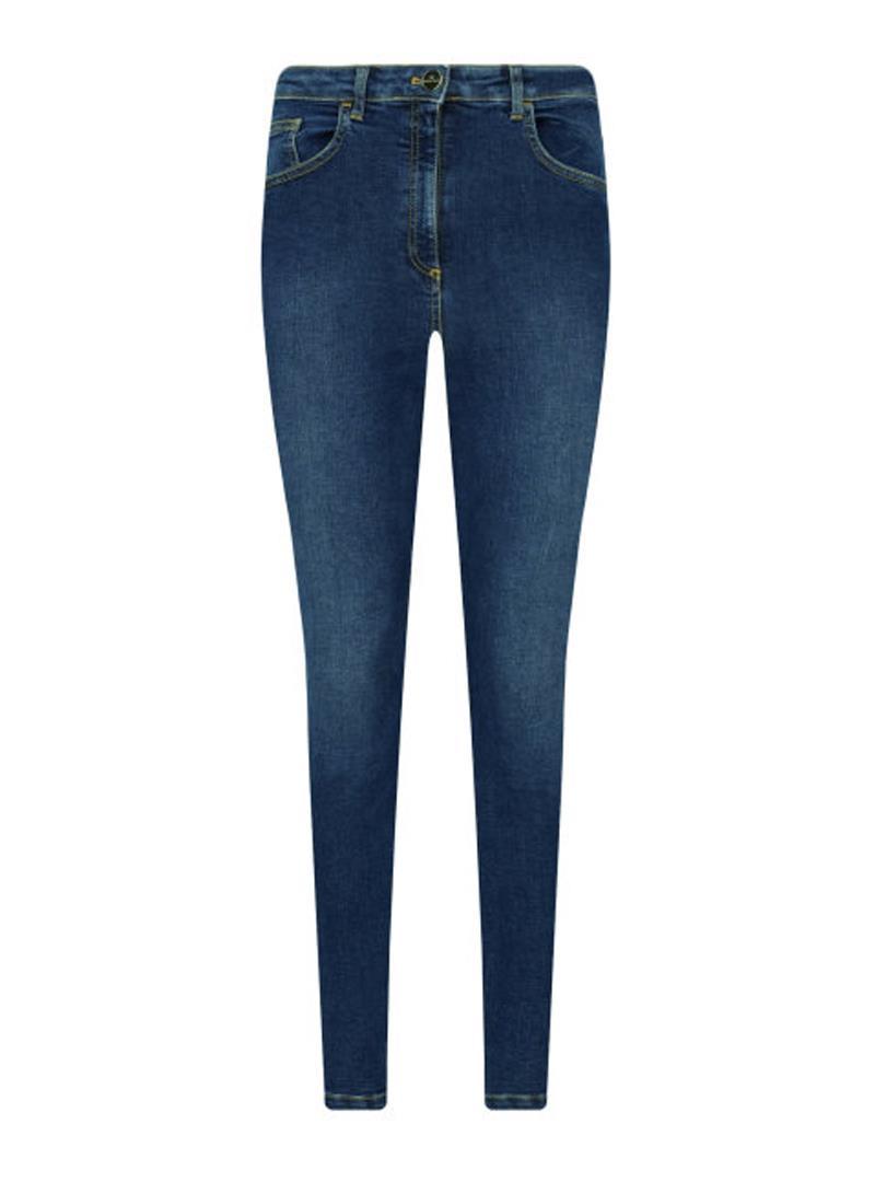 JEANS BLUE DENIM A VITA ALTA ELISABETTA FRANCHI | Jeans | PJ93D06E2104BLUEDENIM