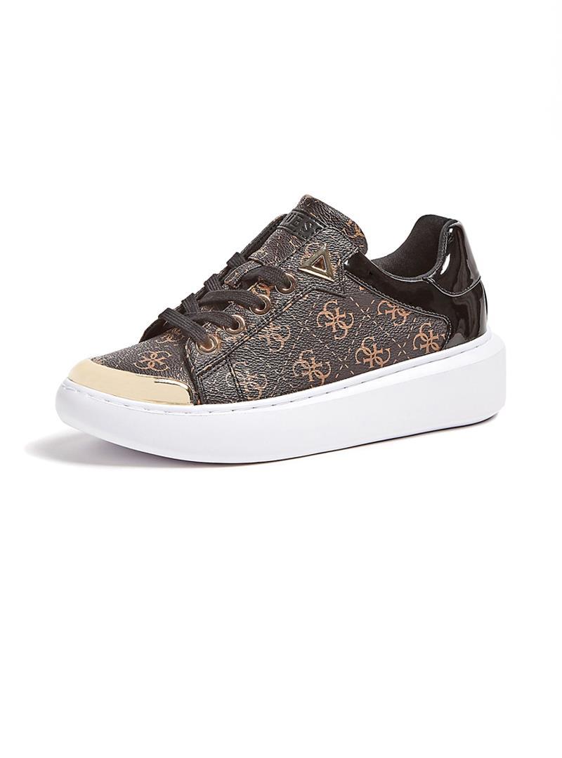 SNEAKER BRANDYN 4G LOGO GUESS | Sneakers | FL7BDYFAL12BROWN