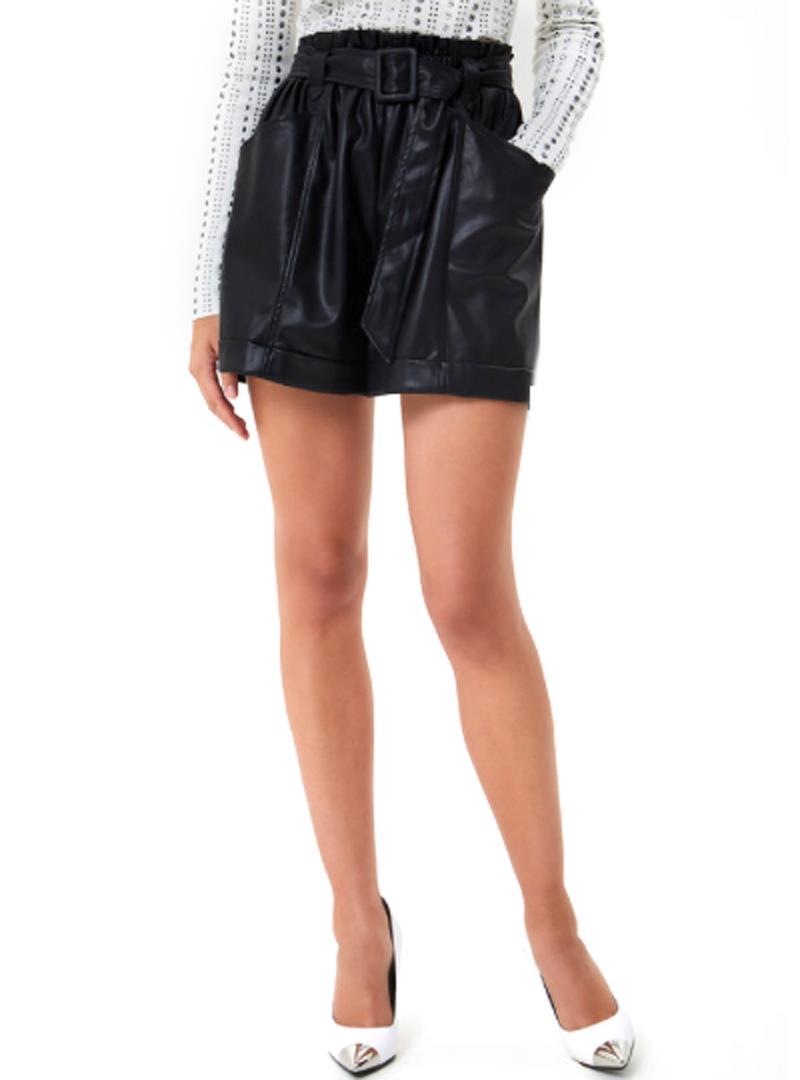SHORT IN SIMILPELLE LIU JO JEANS | Shorts | WF0104E039222222NERO
