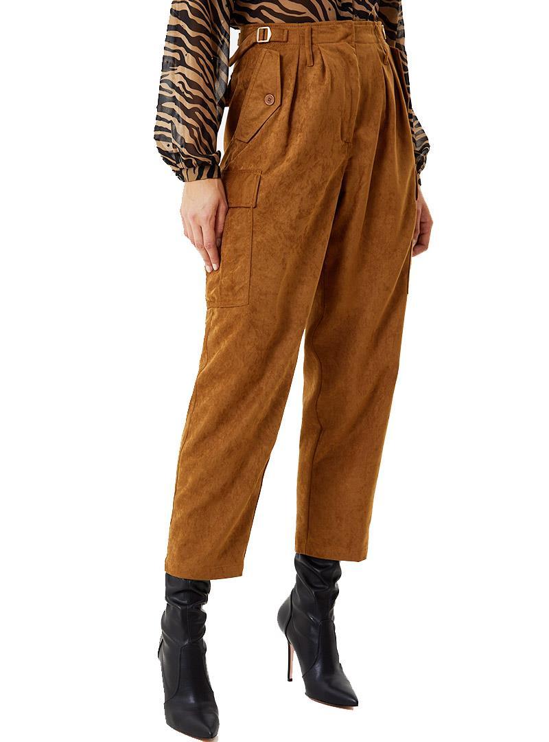 CARGO IN SIMIL SUEDE LIU JO JEANS | Pantalone | WF0203T4635X0304BROWNCORK