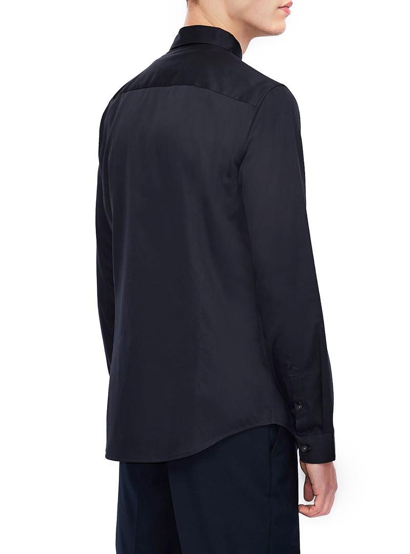 CAMICIA CON SCRITTA LOGO RICAMATA AX ARMANI EXCHANGE   Camicia   3KZC14ZNAUZ1510VAVY
