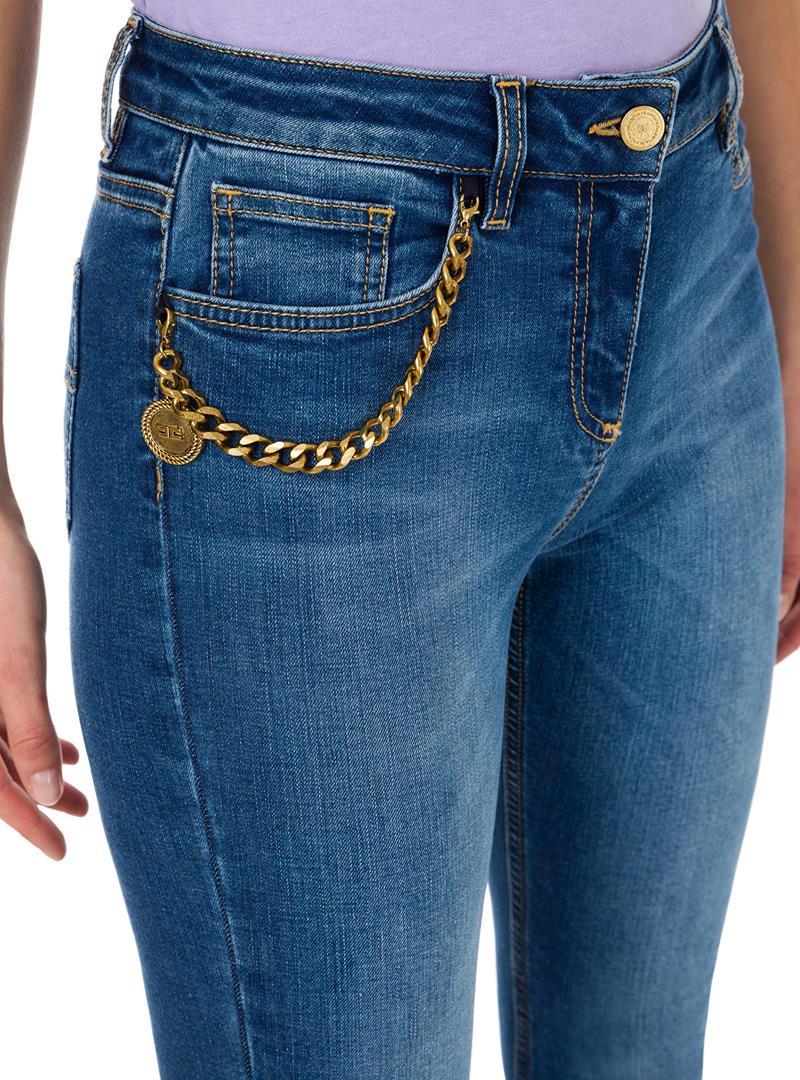 JEANS SKINNY CON CHARME ELISABETTA FRANCHI | Jeans | PJ04S11E2104BLUEDENIM