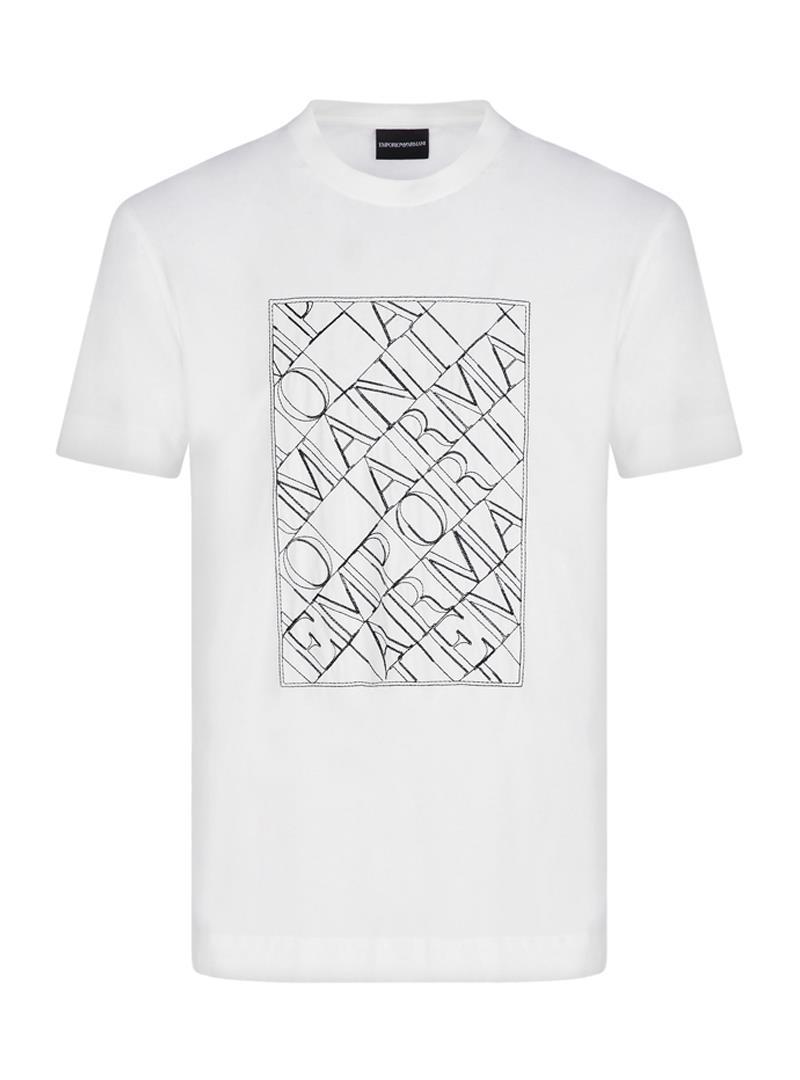 T-SHIRT IN JERSEY EMPORIO ARMANI   T-shirt   3K1TM11JDXZ0101BIANCOCALDO