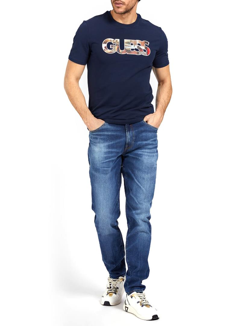 T-SHIRT LOGO FRONTALE GUESS | T-shirt | M1GI78J1311G77GBLUE