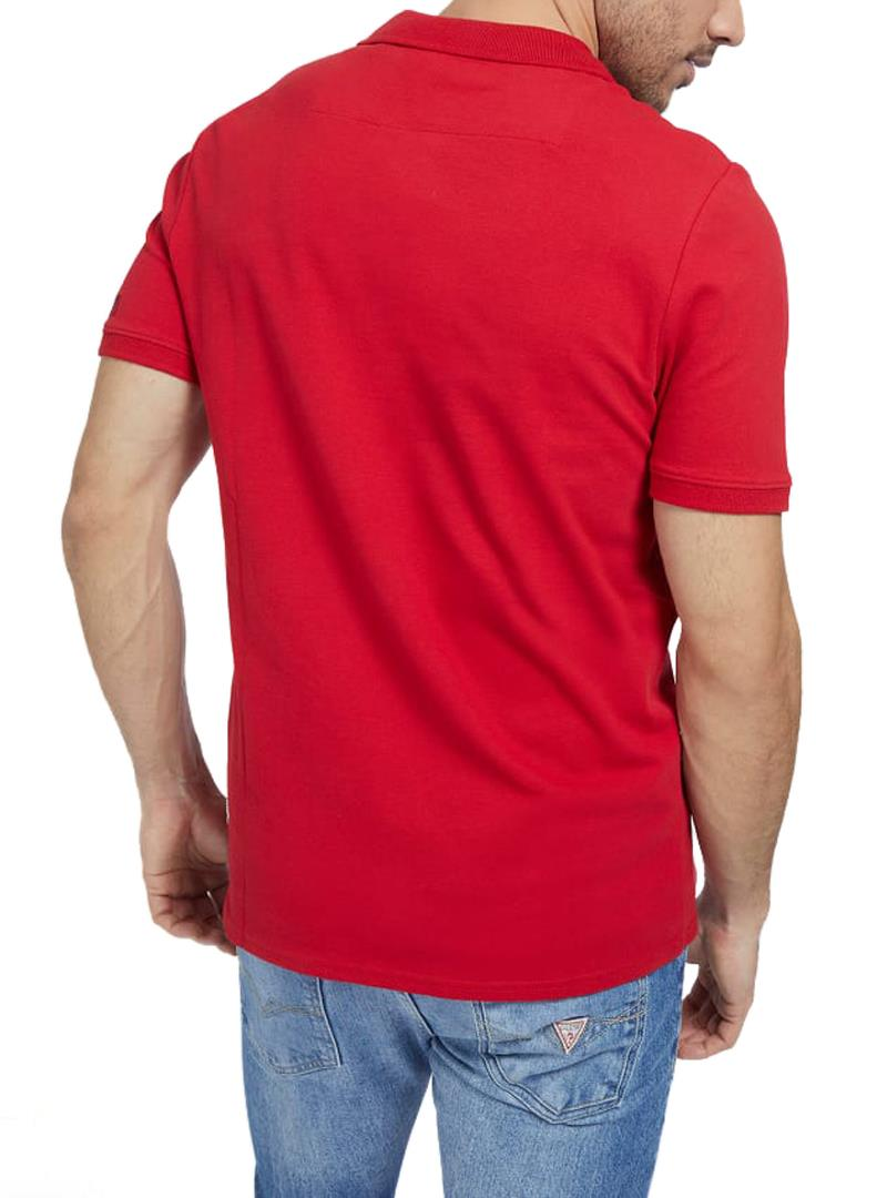 T-SHIRT LOGO FRONTALE GUESS | Polo | M1RP54K7O61TLRDRED