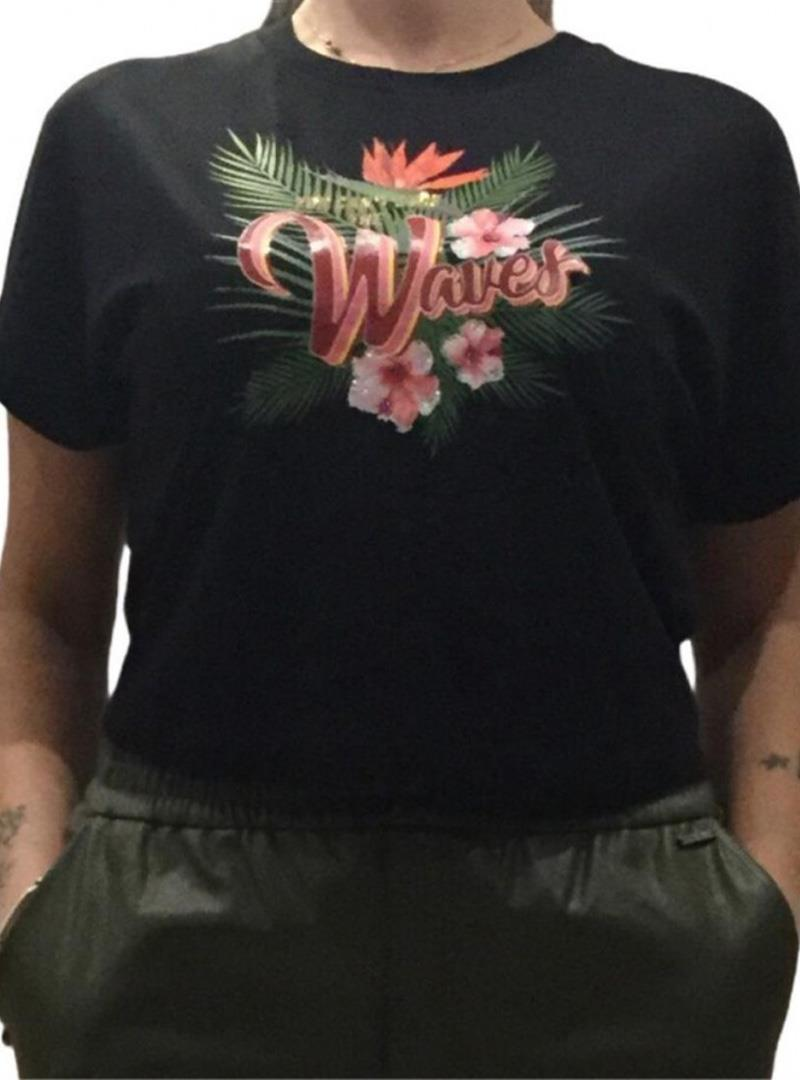 T-SHIRT NODO JANIS TEE GUESS | T-shirt | W1GI1DK46D0A996BLACK