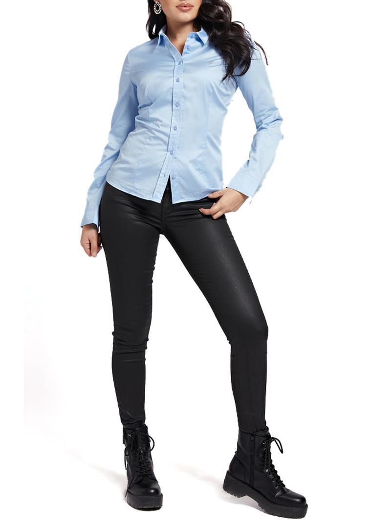 CAMICIA POPELINE GUESS | Camicia | W1RH41WAF10B694BLUE