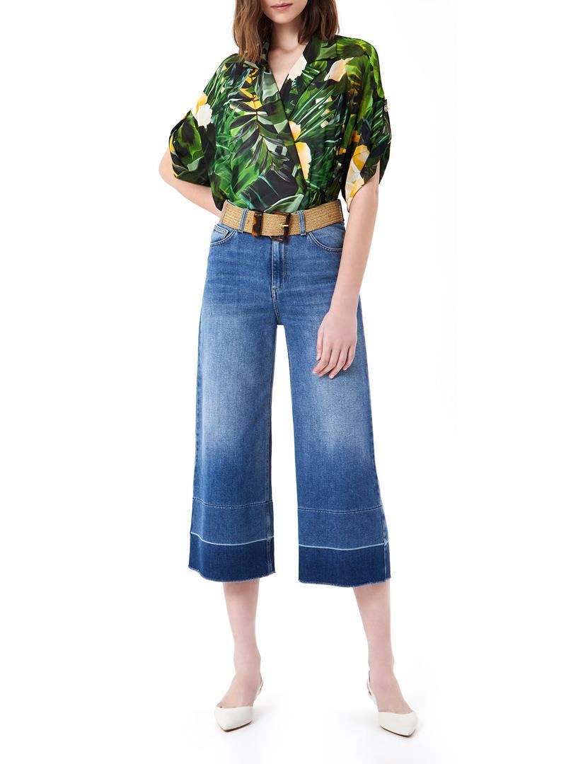 JEANS CROPPED A VITA ALTA LIU JO BLUE DENIM | Jeans | UA1100D462478154DENBLUE