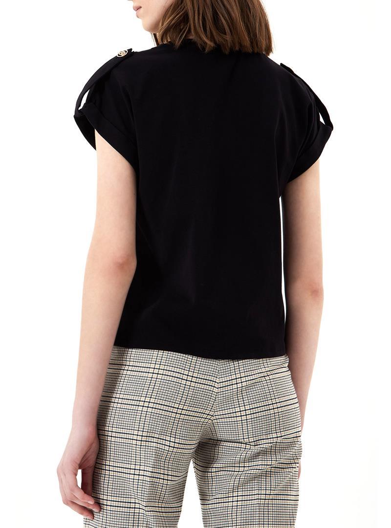 T-SHIRT CON LOGO LIU JO COLLECTION | T-shirt | CA1099J500322222NERO