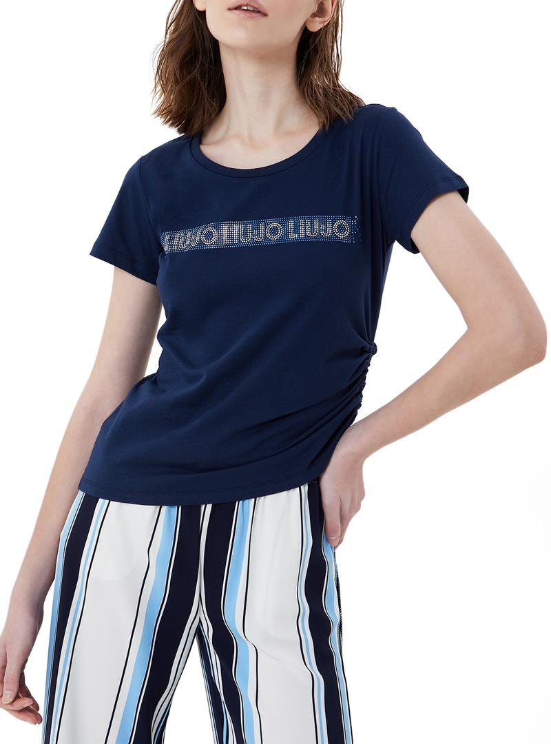 T-SHIRT ECOSOSTENIBILE CON LOGO LIU JO SPORT   T-shirt   TA1193J592394024DRESSBLUE