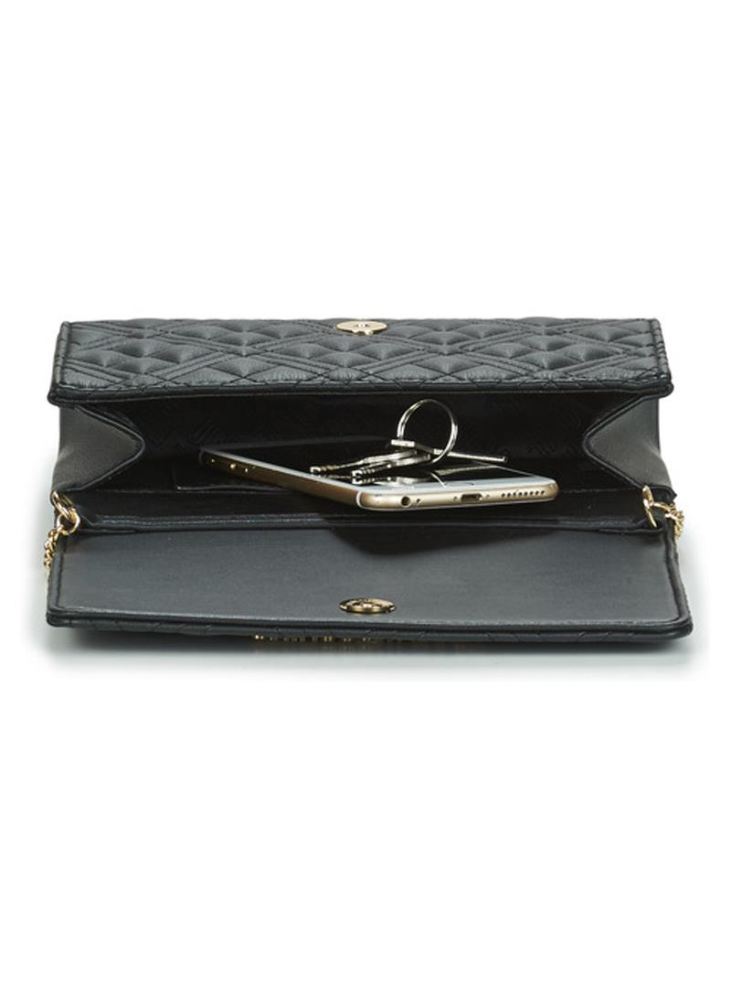 CLUTCH NEW SHINY QUILTED LOVE MOSCHINO | Borsa | JC4079PP1CLA2000NERO
