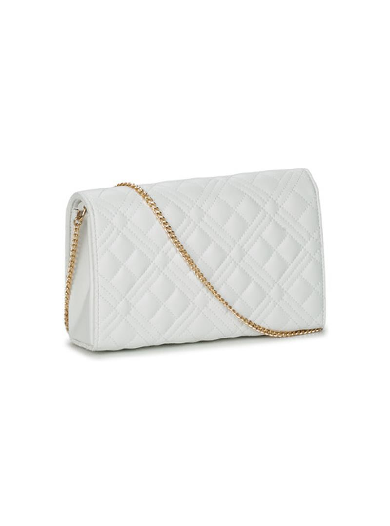 CLUTCH NEW SHINY QUILTED LOVE MOSCHINO | Borsa | JC4079PP1CLA2100BIANCO