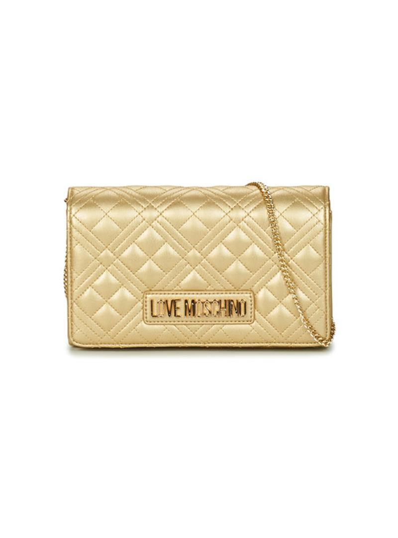 CLUTCH NEW SHINY QUILTED LOVE MOSCHINO   Borsa   JC4079PP1CLA2901ORO