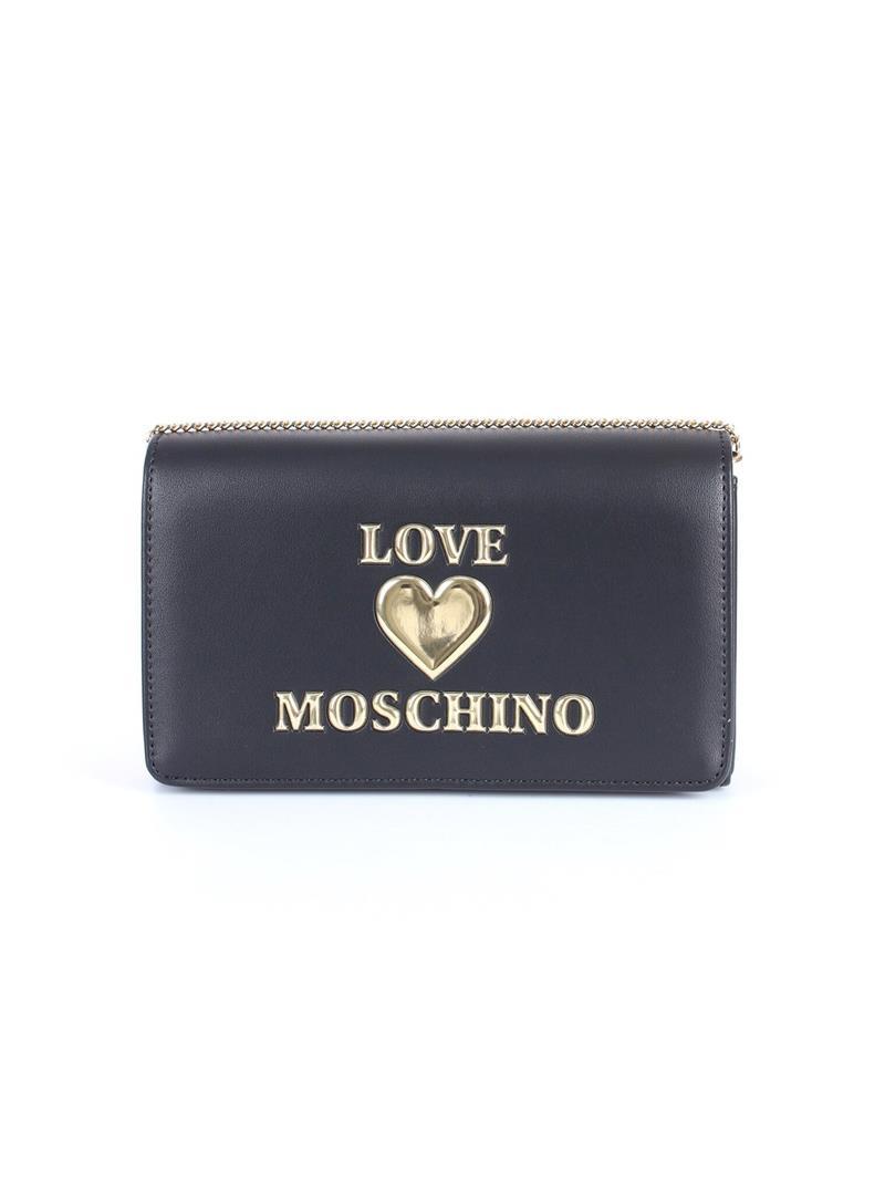CLUTCH PADDED HEART LOVE MOSCHINO   Borsa   JC4083PP1CLF0000NERO