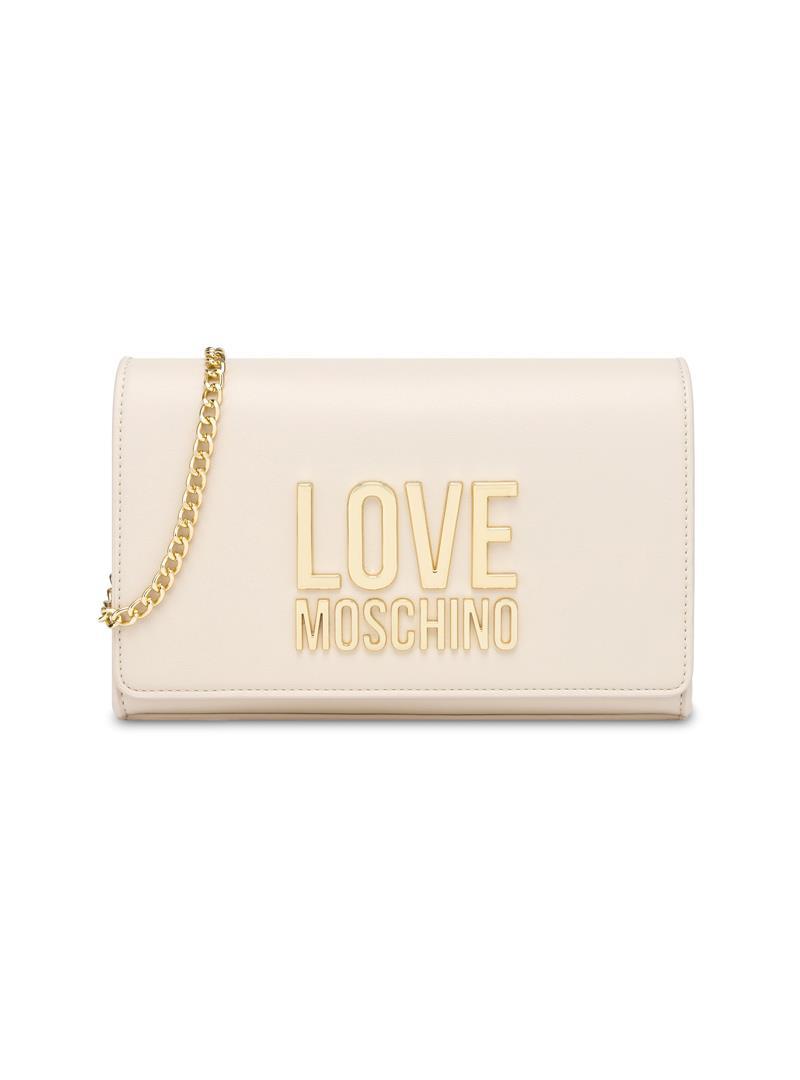 CLUTCH GOLD METAL LOGO LOVE MOSCHINO | Borsa | JC4127PP1CLN2110AVORIO