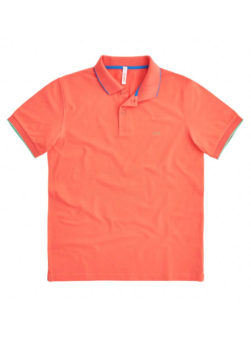 POLO SMALL STRIPES ON COLLAR EL SUN68 | Polo | A3111096CORALLO