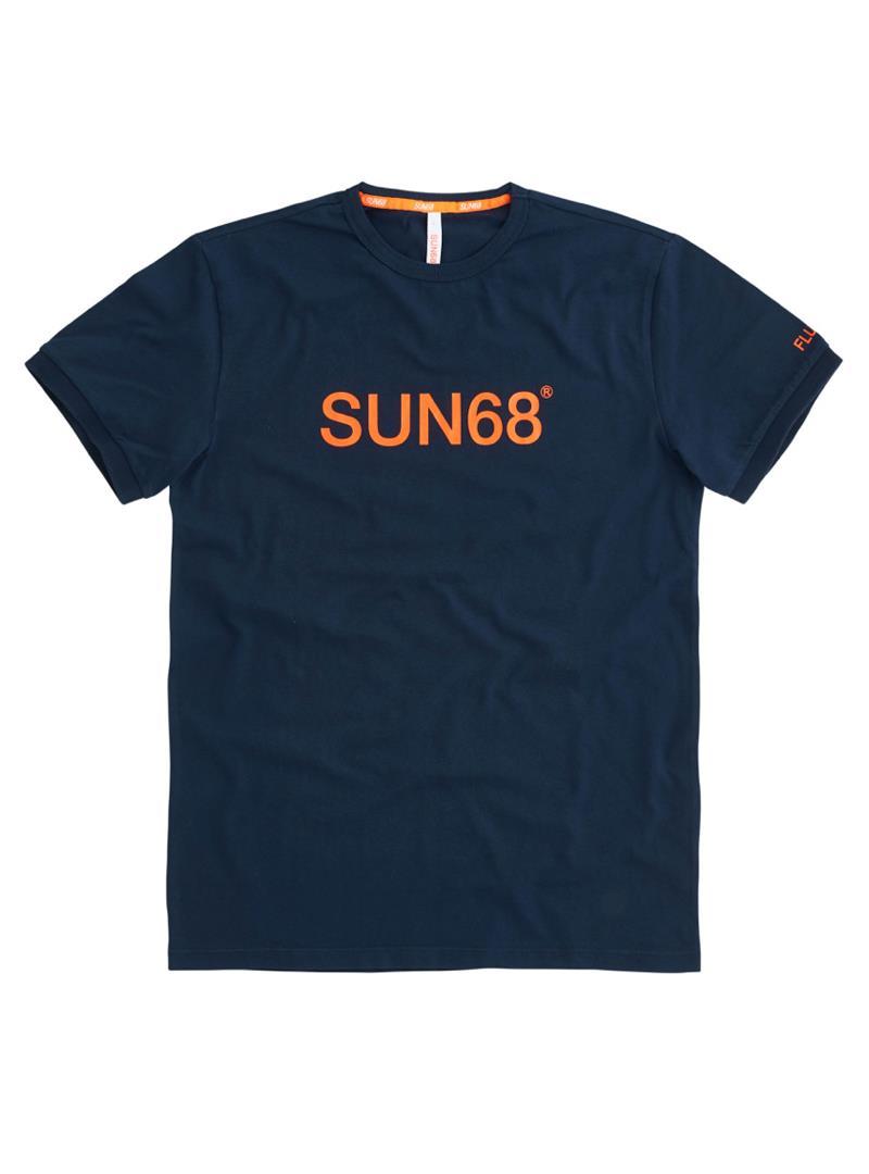 T-SHIRT ROUND FLUO PRINT SUN68 | T-shirt | T3110707NAVYBLUE