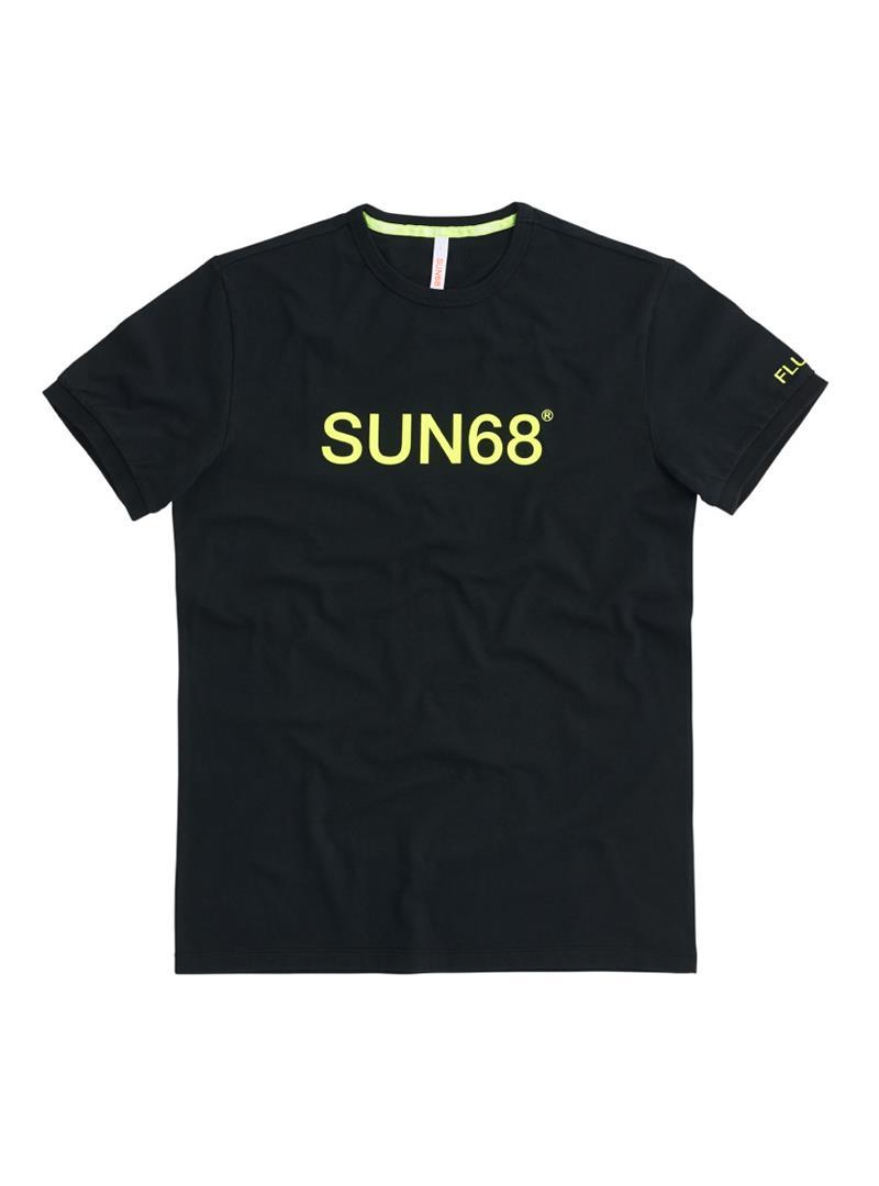T-SHIRT ROUND FLUO PRINT SUN68 | T-shirt | T3110711NERO