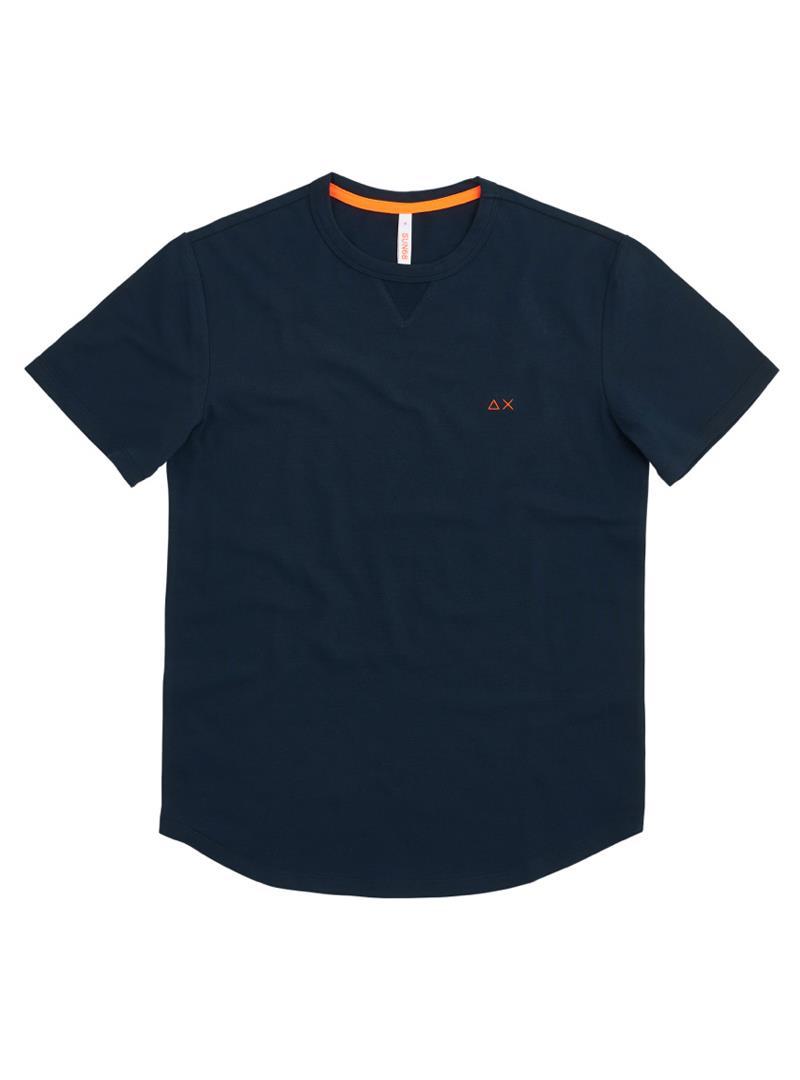 T-SHIRT SOLID EL SUN68   T-shirt   T3111407NAVYBLUE