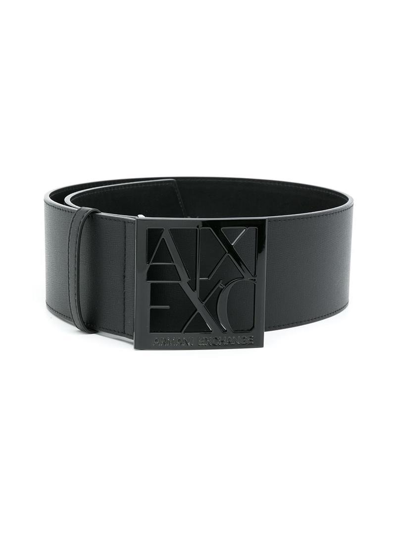 CINTURA CON LOGO AX ARMANI EXCHANGE   Cintura   9411320A87400020NERO