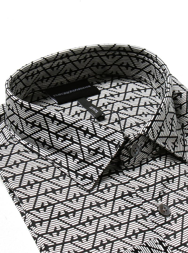 CAMICIA AQUILA ALL OVER EMPORIO ARMANI | Camicia | 6K1C651NZJZF014AQUILANERO