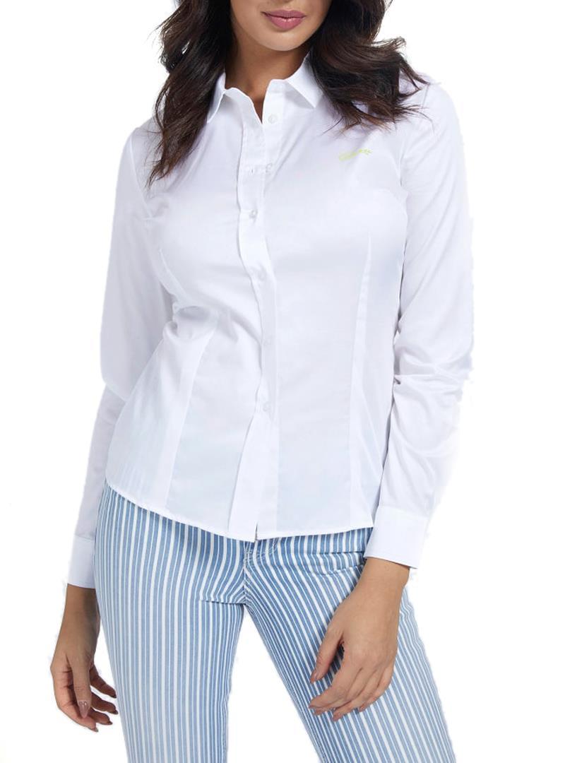 CAMICIA POPELINE GUESS | Camicia | W1RH41WAF10G011WHITE