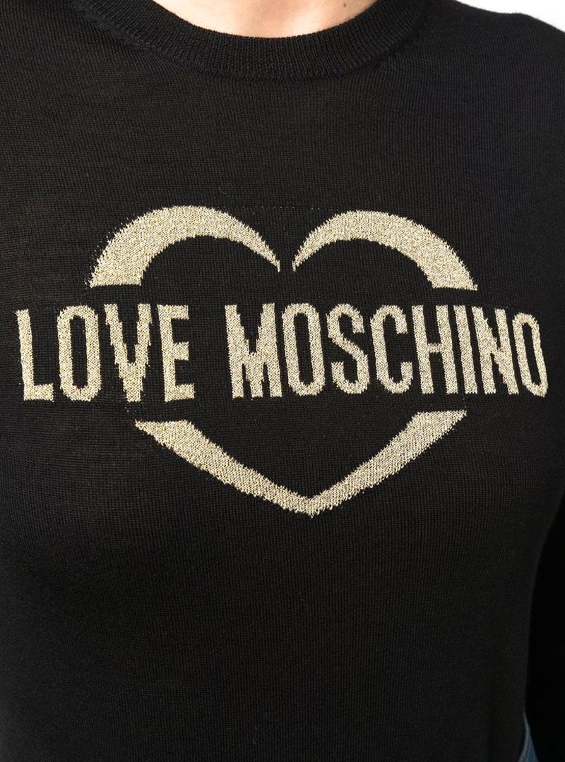 MAGLIA CON STAMPA LOVE MOSCHINO | Maglia | WS87G10X1376C74BLACK