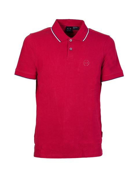 POLO CON BORDI A CONTRASTO AX ARMANI EXCHANGE | Polo | 8NZF75Z8M5Z1435CHILIPEPPER