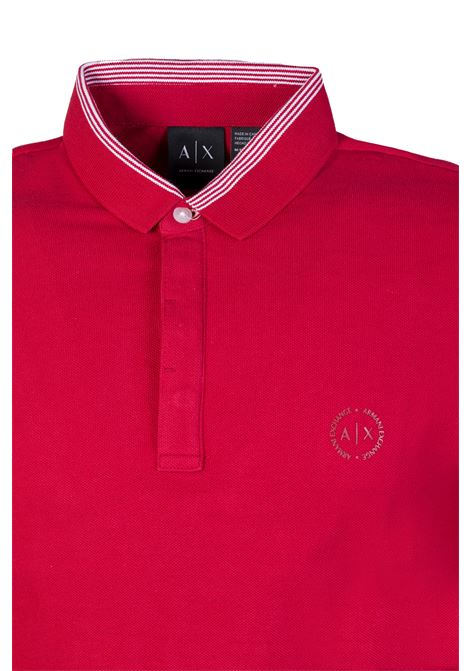 POLO CHILI PEPPER AX ARMANI EXCHANGE | Polo | 8NZFCAZ8M5Z1435CHILIPEPPER