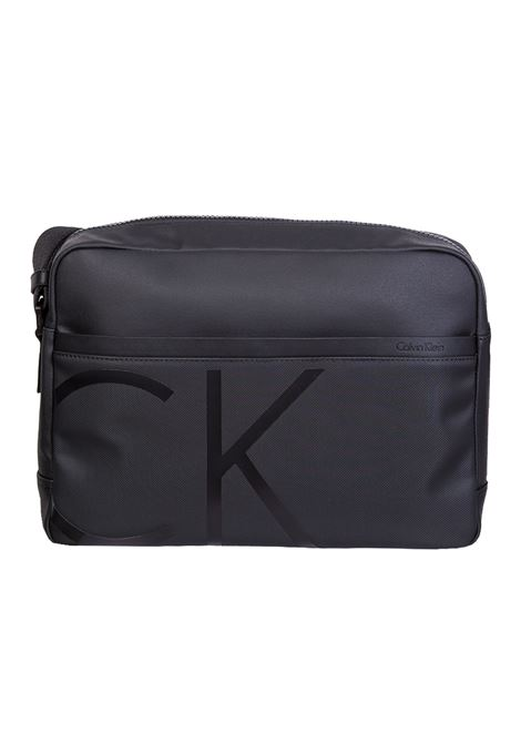 TRACOLLA CON LOGO CALVIN KLEIN | Tracolla | K50K503689-RAISEDLOGO001BLACK