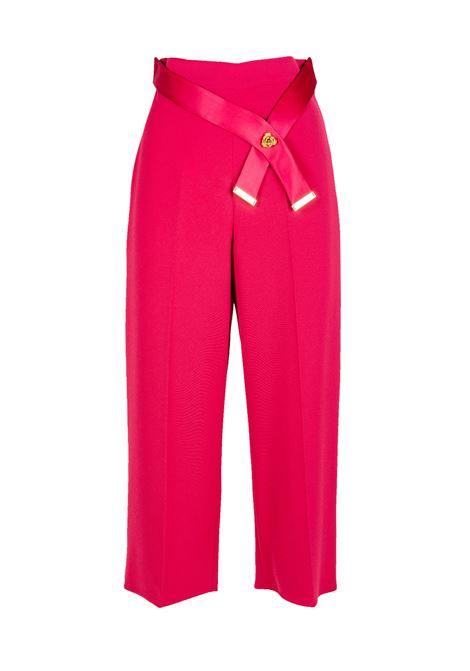PANTALONE CROPPED ELISABETTA FRANCHI | Pantalone | PA18186E2303LAMPONE