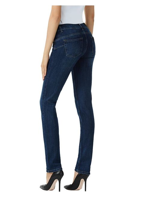 JEANS BOTTOM UP CON VITA MEDIA LIU JO BLUE DENIM | Jeans | U68016D412777411DENBLUEEVENTWASH