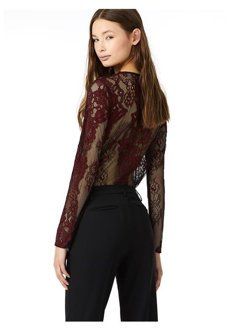 CAMICIA BODY IN PIZZO LIU JO JEANS CORE | Body | W68457J5503V9423REDBLACK