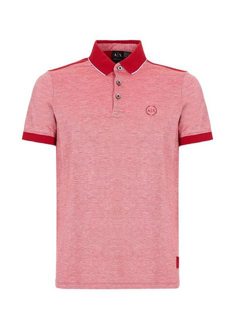 POLO CON LOGO AX ARMANI EXCHANGE | Polo | 8NZF76Z8M5Z1435CHILIPEPPER