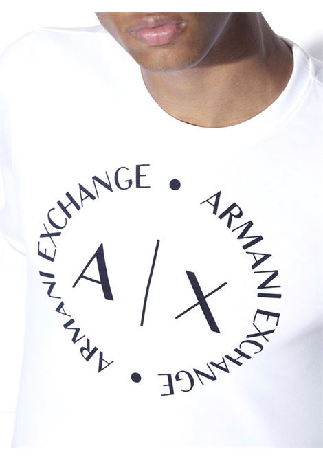FELPA CON MACRO LOGO AX ARMANI EXCHANGE | Maglia | 8NZM87Z9N1Z1100BIANCO
