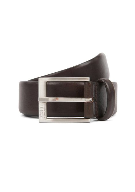 CINTURA IN PELLE LISCIA BOSS | Cintura | 50389781ERRONSZ35203DARKBROWN